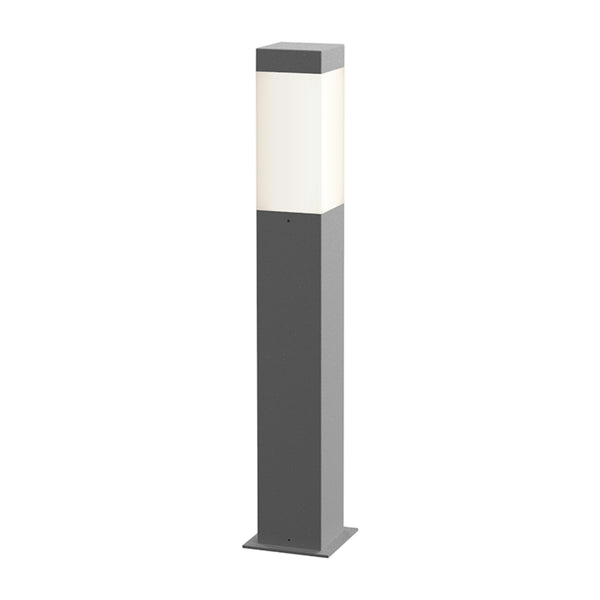 "Sonneman 7382.74-WL Square Column 22"" LED Bollard in Textured Gray"
