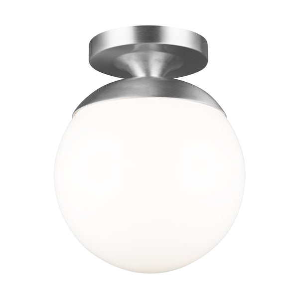 Generation Lighting 7518-04 Sea Gull Leo - Hanging Globe 1 Light Ceiling Light in Satin Aluminum