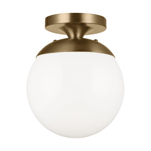 Generation Lighting 7518-848 Sea Gull Leo - Hanging Globe 1 Light Ceiling Light in Satin Bronze