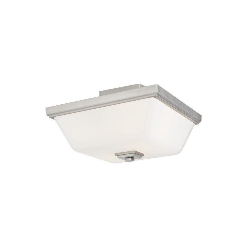 Generation Lighting 7713702-962 Sea Gull Ellis Harper 2 Light Ceiling Light in Brushed Nickel