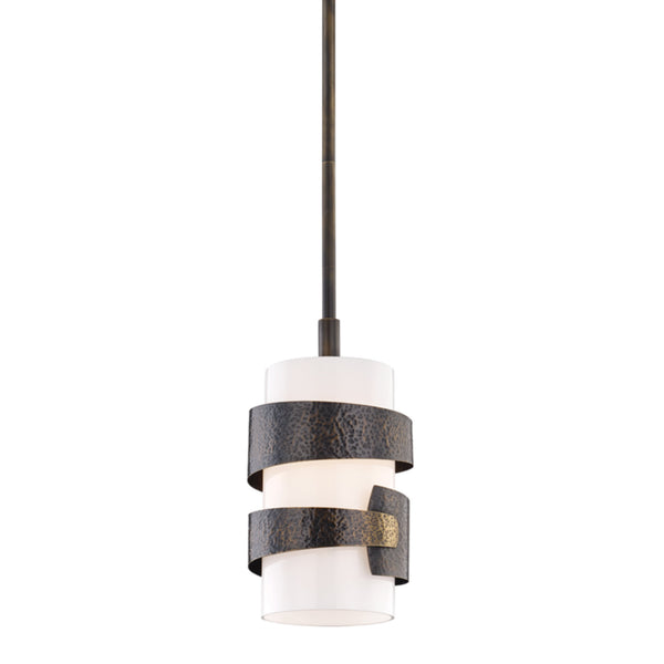 Hudson Valley Lighting 7808-DB Lanford 1 Light Small Pendant in Distressed Bronze