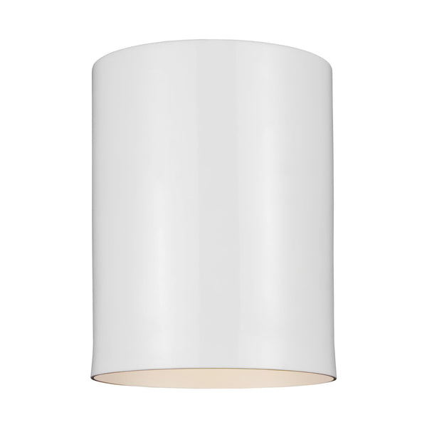 Generation Lighting 7813801-15 Sea Gull Outdoor Cylinders 1 Light Outdoor Light in White
