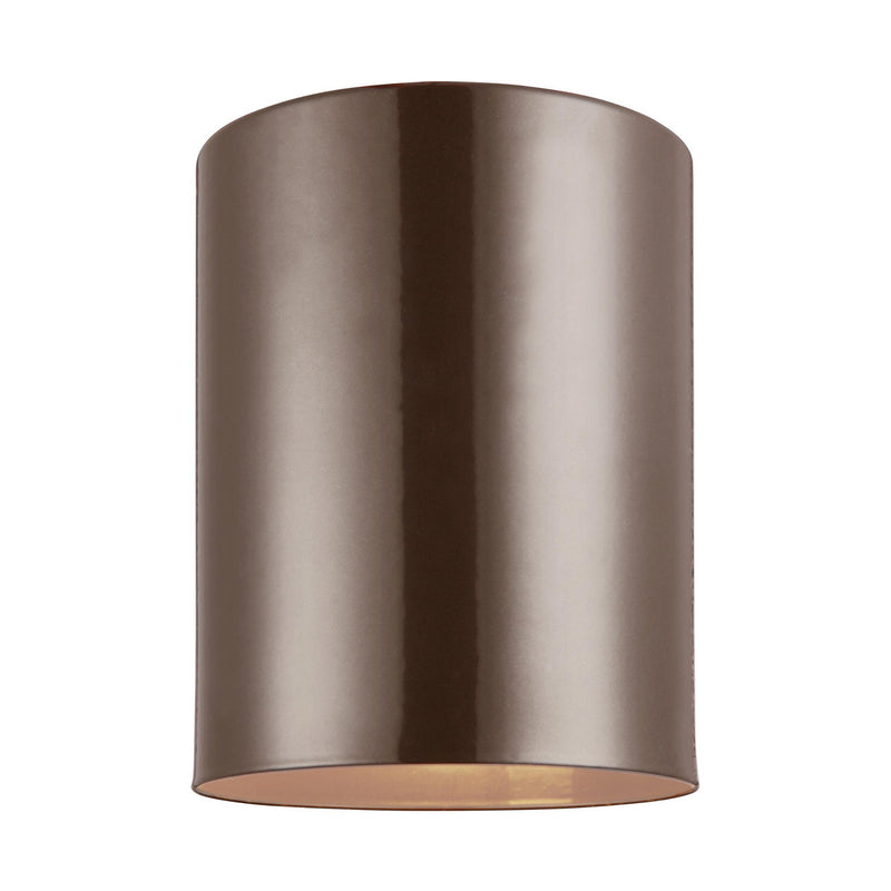 Generation Lighting 7813801-10 Sea Gull Outdoor Cylinders 1 Light Outdoor Light in Bronze