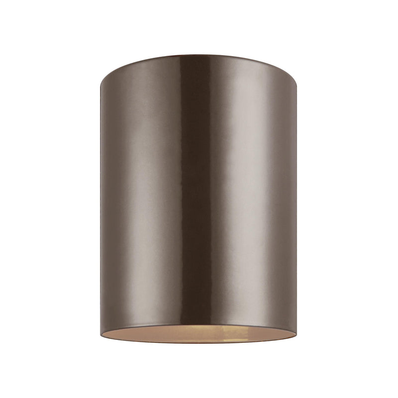 Generation Lighting 7813897S-10 Sea Gull Outdoor Cylinders 1 Light 2700K LED Outdoor Light in Bronze