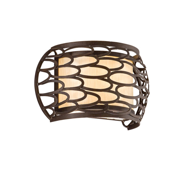 Corbett Lighting 79-11 Cesto 1lt Wall Sconce in Hand-Worked Iron