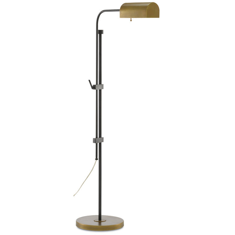 Currey and Company 8000-0021 Hearst Floor Lamp in Oil Rubbed Bronze/Antique Brass