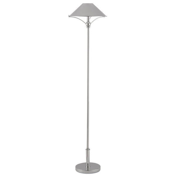 Currey and Company 8000-0051 Maarla Nickel Floor Lamp in Polished Nickel