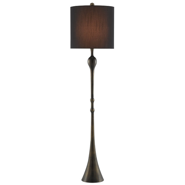 Currey and Company 8000-0067 Trompette Floor Lamp in Antique Brass
