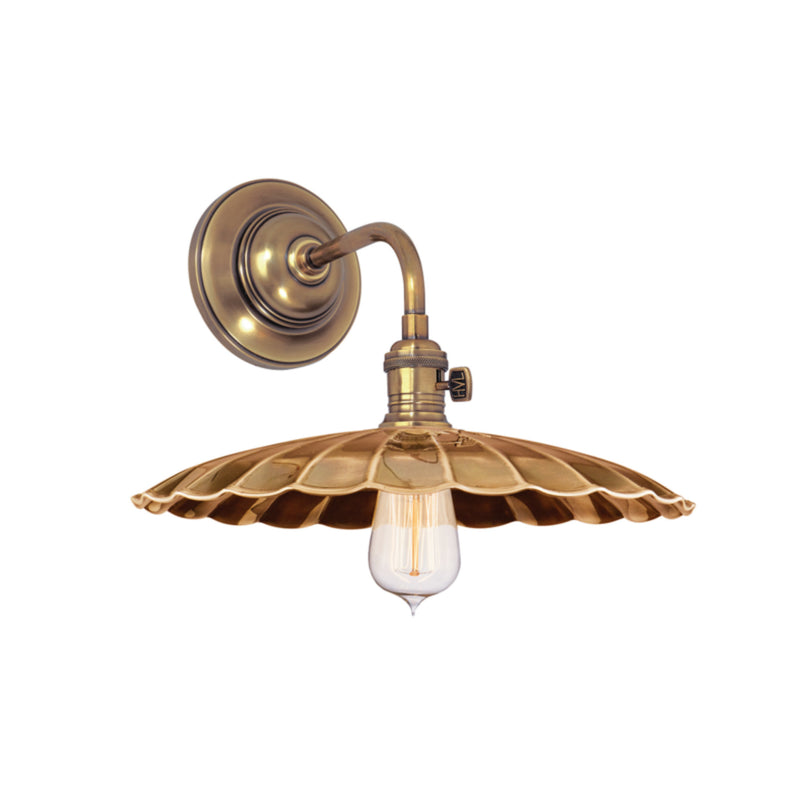 Hudson Valley Lighting 8000-AGB-MS3 Heirloom 1 Light Wall Sconce in Aged Brass