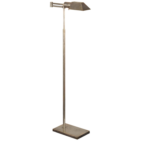 Visual Comfort 81134 AN Studio VC Casual Studio Swing Arm Floor Lamp in Antique Nickel