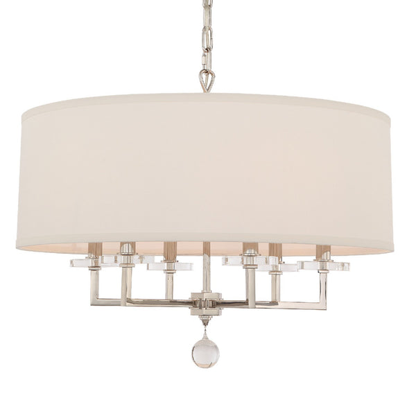 Crystorama 8116-PN Paxton Chandelier in Polished Nickel
