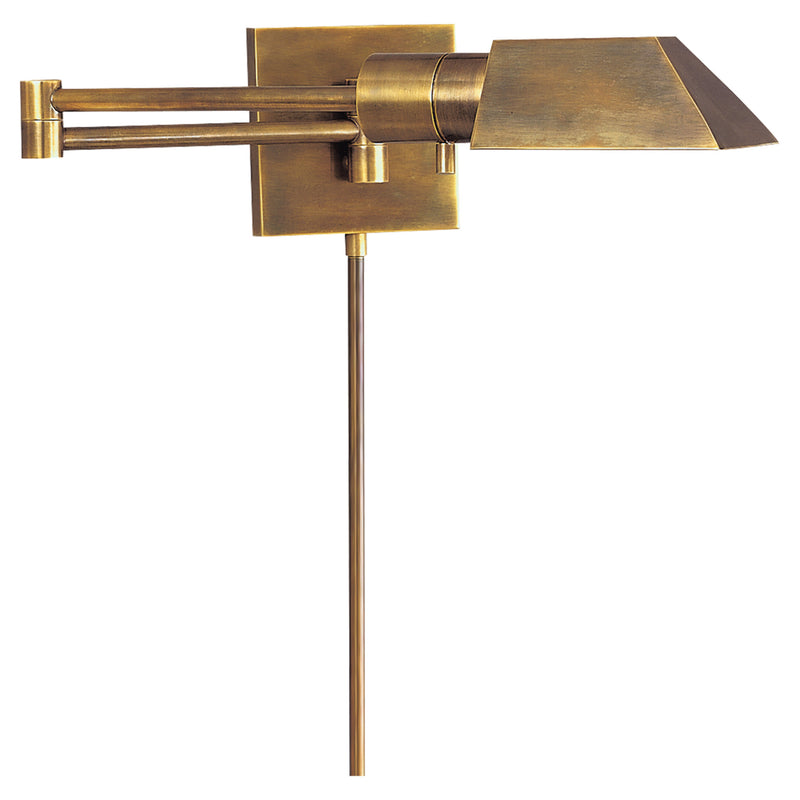 Visual Comfort 82034 HAB Studio VC Studio Swing Arm Wall Light in Hand-Rubbed Antique Brass