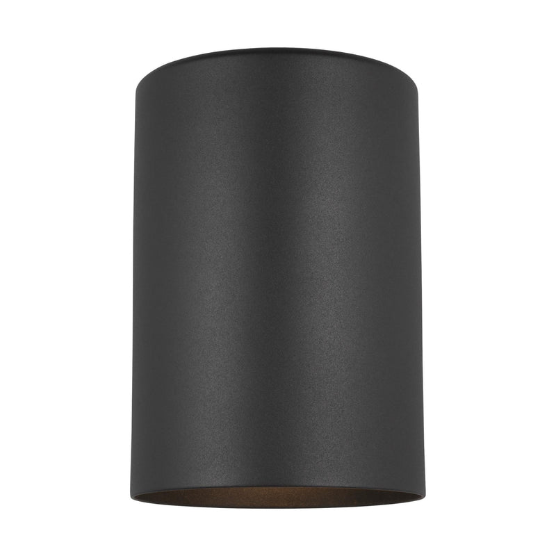 Generation Lighting 8313801-12 Sea Gull Outdoor Cylinders 1 Light Outdoor Light in Black