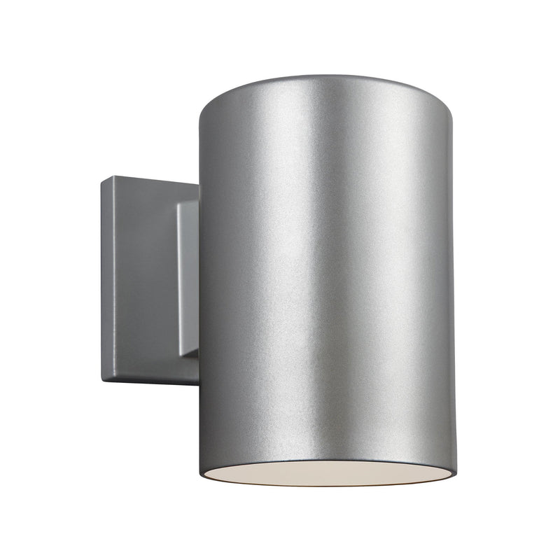 Generation Lighting 8313801-753/T Sea Gull Outdoor Cylinders 1 Light Outdoor Light in Painted Brushed Nickel