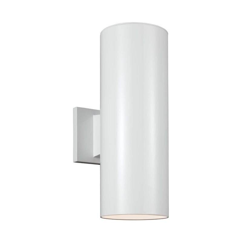 Generation Lighting 8313802-15 Sea Gull Outdoor Cylinders 2 Light Outdoor Light in White
