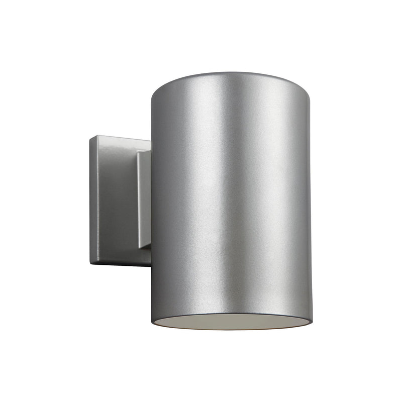 Generation Lighting 8313897S-753 Sea Gull Outdoor Cylinders 1 Light 2700K LED Outdoor Light in Painted Brushed Nickel