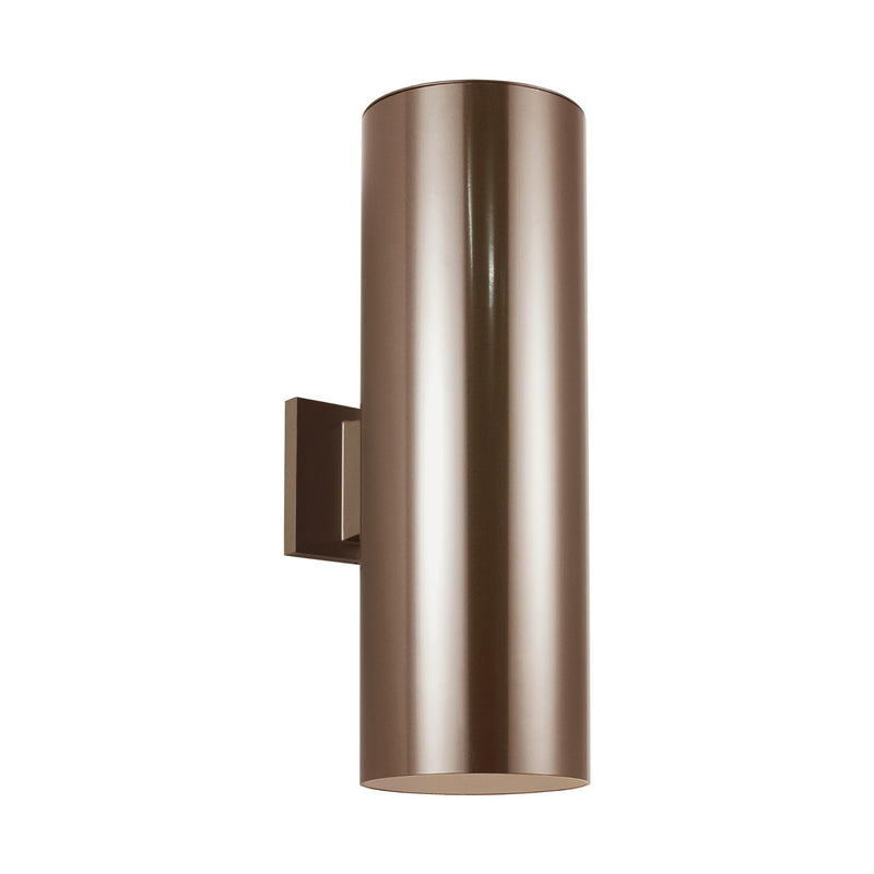 Generation Lighting 8313902-10 Sea Gull Outdoor Cylinders 2 Light Outdoor Light in Bronze