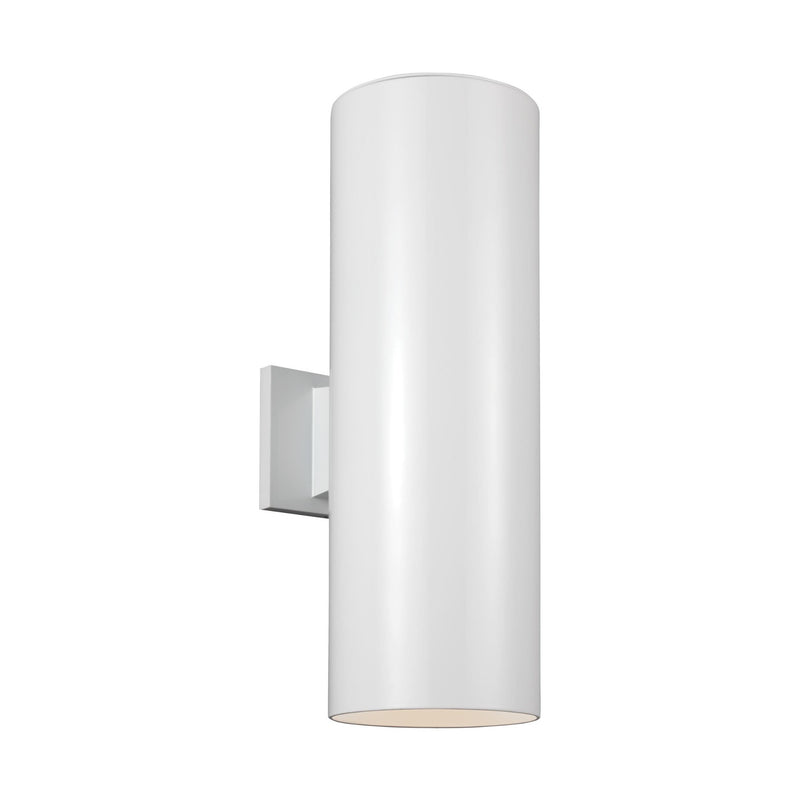 Generation Lighting 8313902-15 Sea Gull Outdoor Cylinders 2 Light Outdoor Light in White