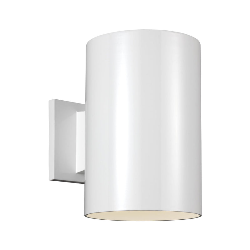 Generation Lighting 8313997S-15 Sea Gull Outdoor Cylinders 1 Light 2700K LED Outdoor Light in White