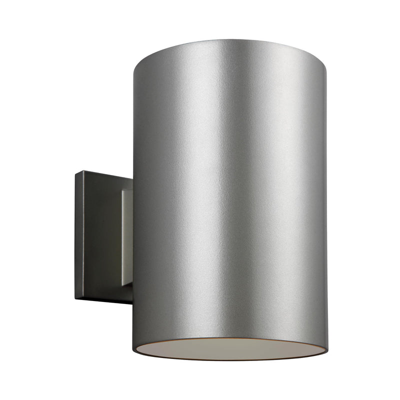 Generation Lighting 8313997S-753 Sea Gull Outdoor Cylinders 1 Light 2700K LED Outdoor Light in Painted Brushed Nickel