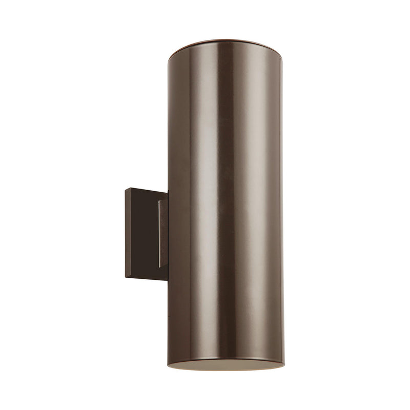 Generation Lighting 8413897S-10 Sea Gull Outdoor Cylinders 2 Light 2700K LED Outdoor Light in Bronze