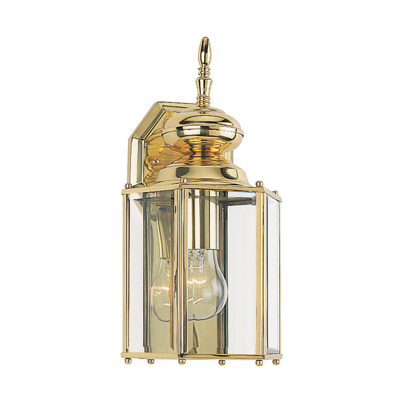 Generation Lighting 8509-02 Sea Gull Classico 1 Light Outdoor Light in Polished Brass