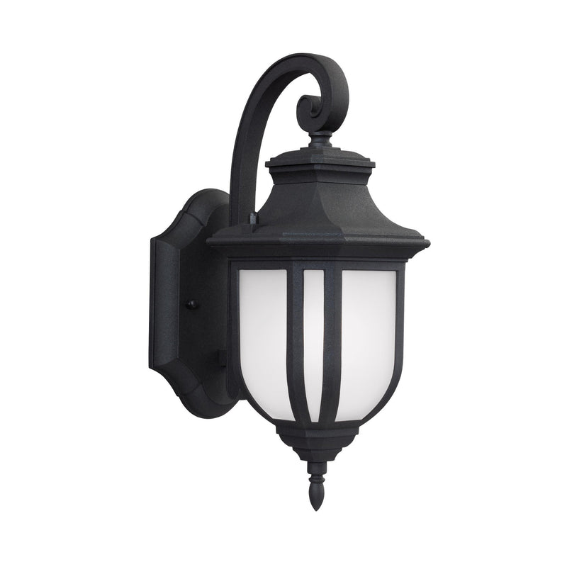 Generation Lighting 8536301EN3-12 Sea Gull Childress 1 Light Outdoor Light in Black