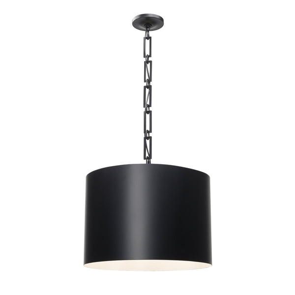 Crystorama 8686-MK-WH Alston Chandelier in Matte Black + White