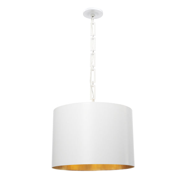 Crystorama 8686-MT-GA Alston Chandelier in Matte White + Antique Gold