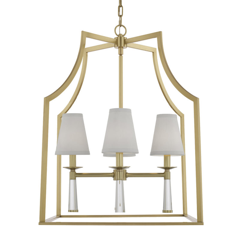 Crystorama 8864-AG Baxter Chandelier in Aged Brass