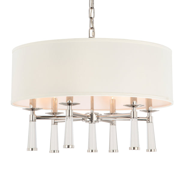 Crystorama 8866-PN Baxter Chandelier in Polished Nickel