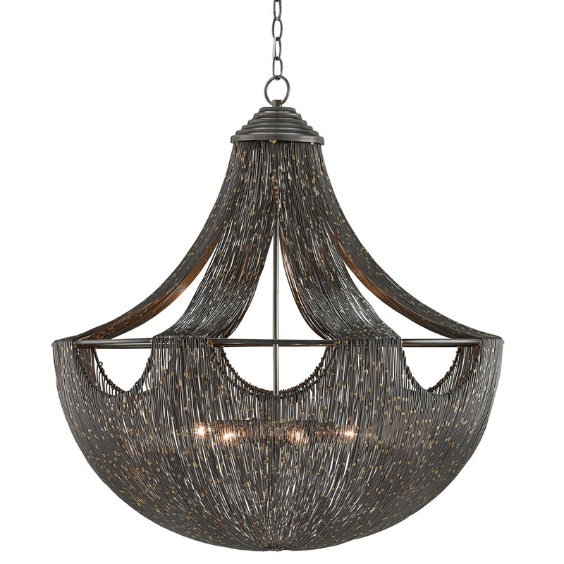 Currey and Company 9000-0018 Eduardo Chandelier in Natural Iron/Brass