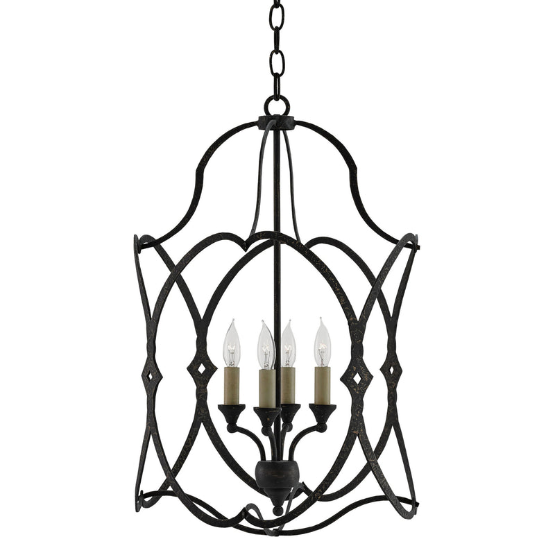Currey and Company 9000-0024 Charisma Small Lantern in French Black