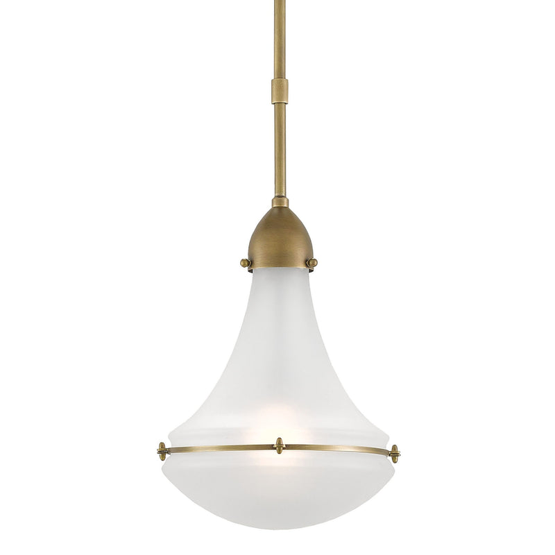 Currey and Company 9000-0086 Profile Pendant in Antique Brass