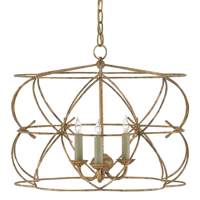 Currey and Company 9000-0108 Rattigan Chandelier in Sicilian Gold Leaf