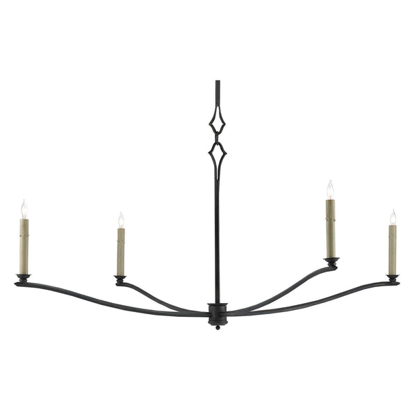 Currey and Company 9000-0176 Knole Chandelier in French Black
