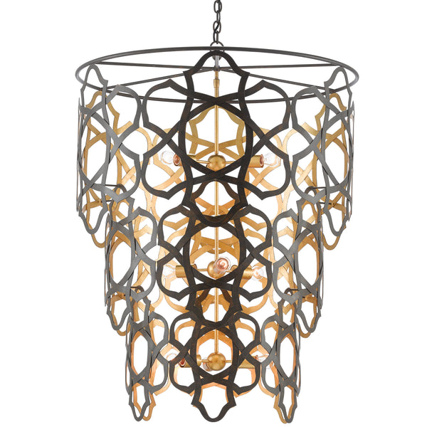 Currey and Company 9000-0381 Mauresque Chandelier in Bronze Gold/Contemporary Gold Leaf