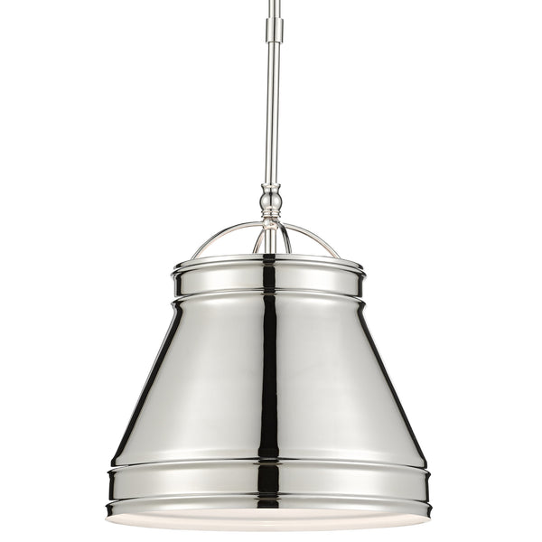 Currey and Company 9000-0485 Lumley Nickel Pendant in Polished Nickel