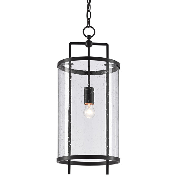 Currey and Company 9000-0579 Chesten Pendant in Antique Black