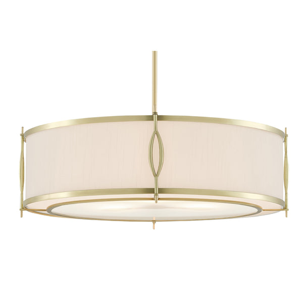 Currey and Company 9000-0589 Junia Pendant in Brushed Brass