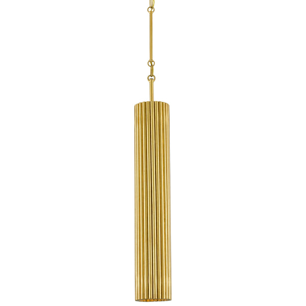 Currey and Company 9000-0629 Penfold Gold Pendant in Contemporary Gold Leaf/Painted Contemporary Gold