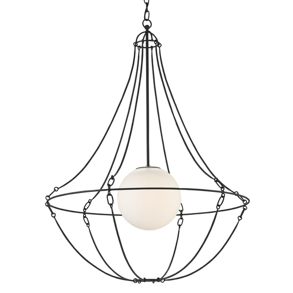Currey and Company 9000-0640 Stanleigh Pendant in Black Bronze