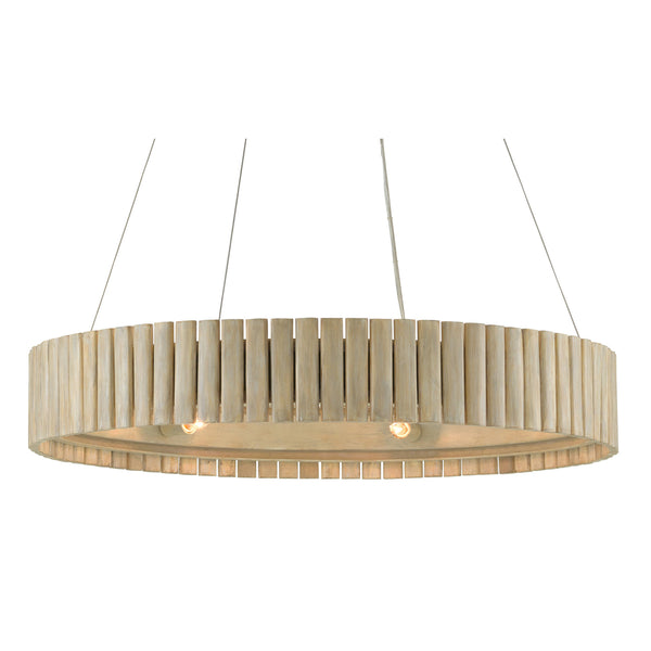 Currey and Company 9000-0646 Tetterby Chandelier in Light Taupe/Smokewood