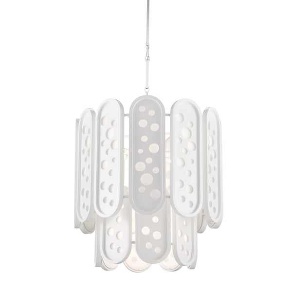 Currey and Company 9000-0664 Sasha Bikoff Collection Lapidus Two-Tiered Chandelier in Sugar White
