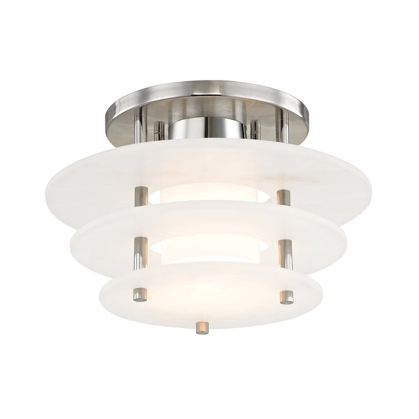 Hudson Valley Lighting 9012F-PN Gatsby Led Flush Mount in Polished Nickel