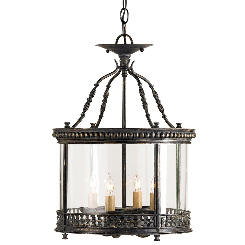 Currey and Company 9045 Lillian August Collection Grayson Small Lantern in French Black