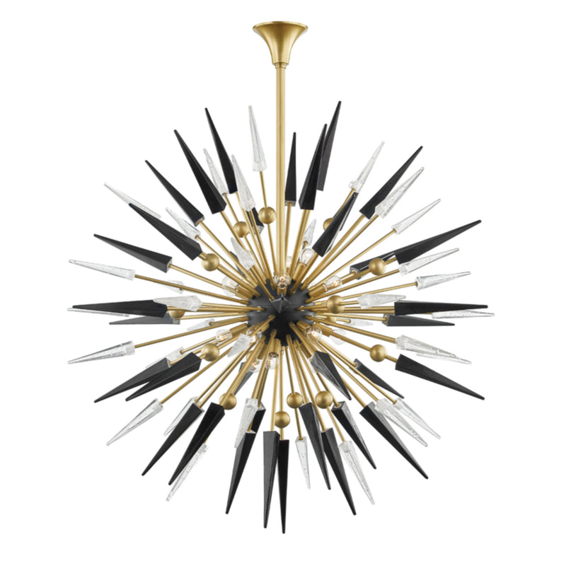 Hudson Valley Lighting 9047-AGB Sparta 18 Light Chandelier in Aged Brass