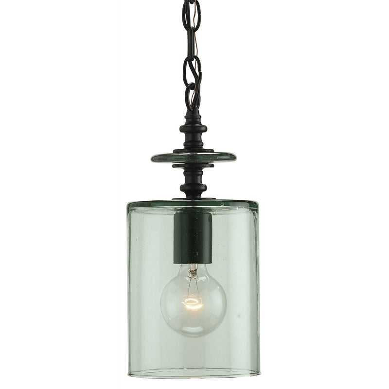 Currey and Company 9060 Panorama Small Pendant in Satin Black