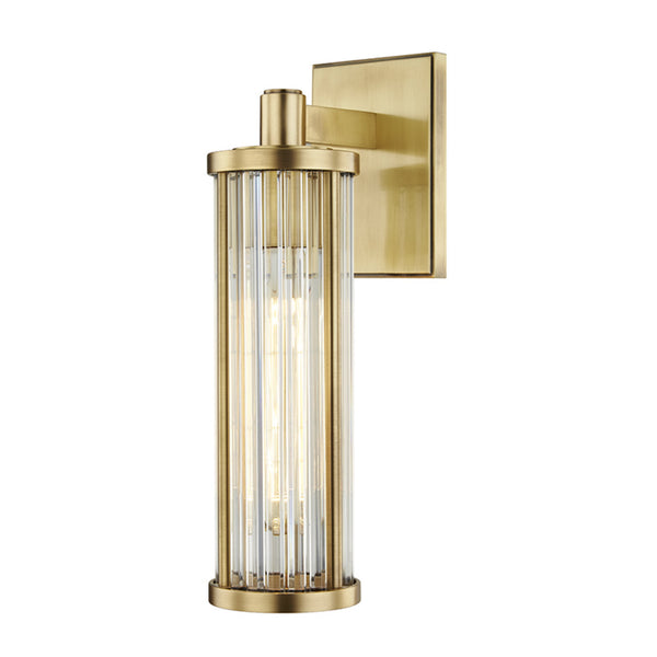 Hudson Valley Lighting 9121-AGB Marley 1 Light Wall Sconce in Aged Brass