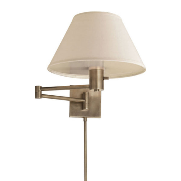 Visual Comfort 92000D AN-L Studio VC Casual Classic Swing Arm Wall Lamp in Antique Nickel